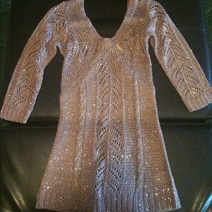 Romantic Lace Crochet tunic 3/4 sleeve Never use!